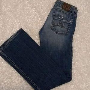 BKE Stella Stretch Boot Cut Distressed Jeans